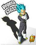 Vegeta SSGSS Poster 1