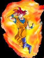 Goku SSG Power by SaoDVD