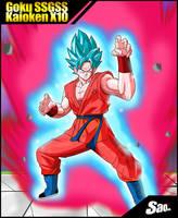 Goku SSGSS Kaioken X10 by SaoDVD