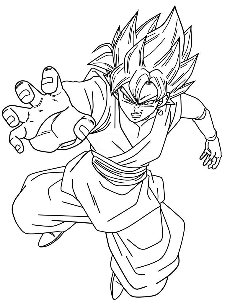 Dragon Ball Z Kai Coloring PagesBlack SSJRose Lineart By