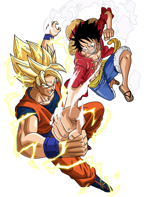Goku vs luffy by saodvd on deviantart - Dbz et one piece ...