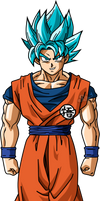 Goku SSJ Blue v2 by SaoDVD