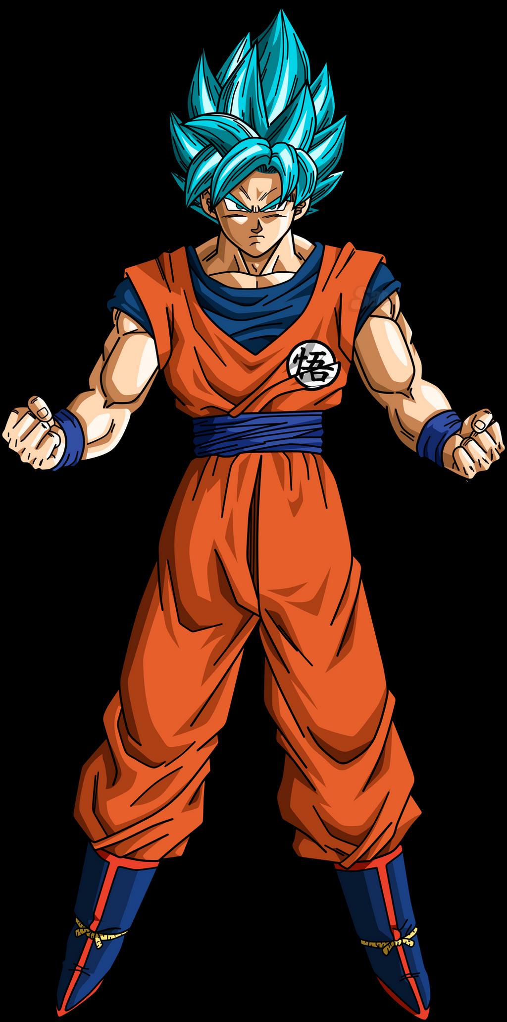 Goku SSJ Blue v3 by SaoDVD on DeviantArt