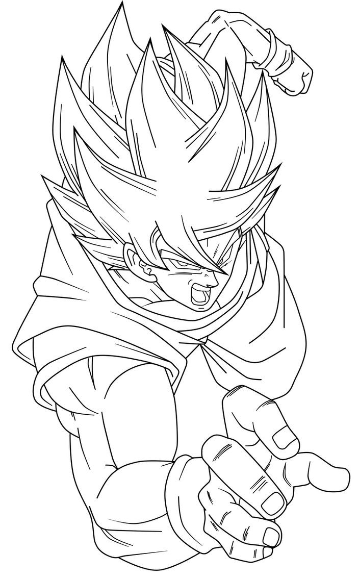 Goku ssj cooler lineart by saodvd on deviantart for Goku ssj coloring pages