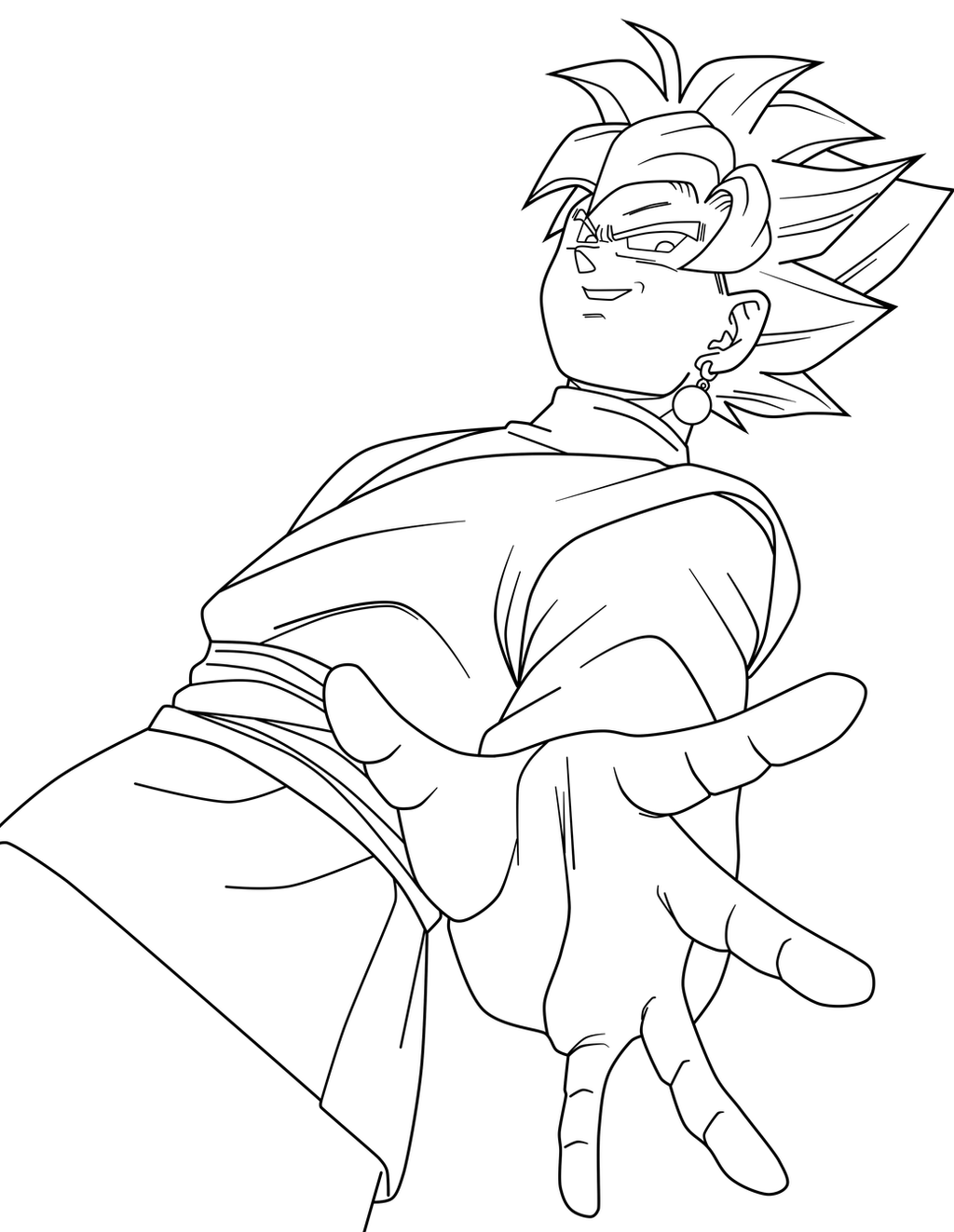 Bonito Goku Para Colorear Imprimible Ideas - Dibujos Para Colorear ...