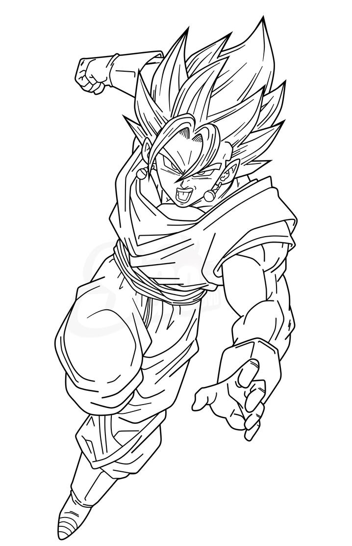 Dragon ball vegito pages coloring pages for Dragon ball z coloring page
