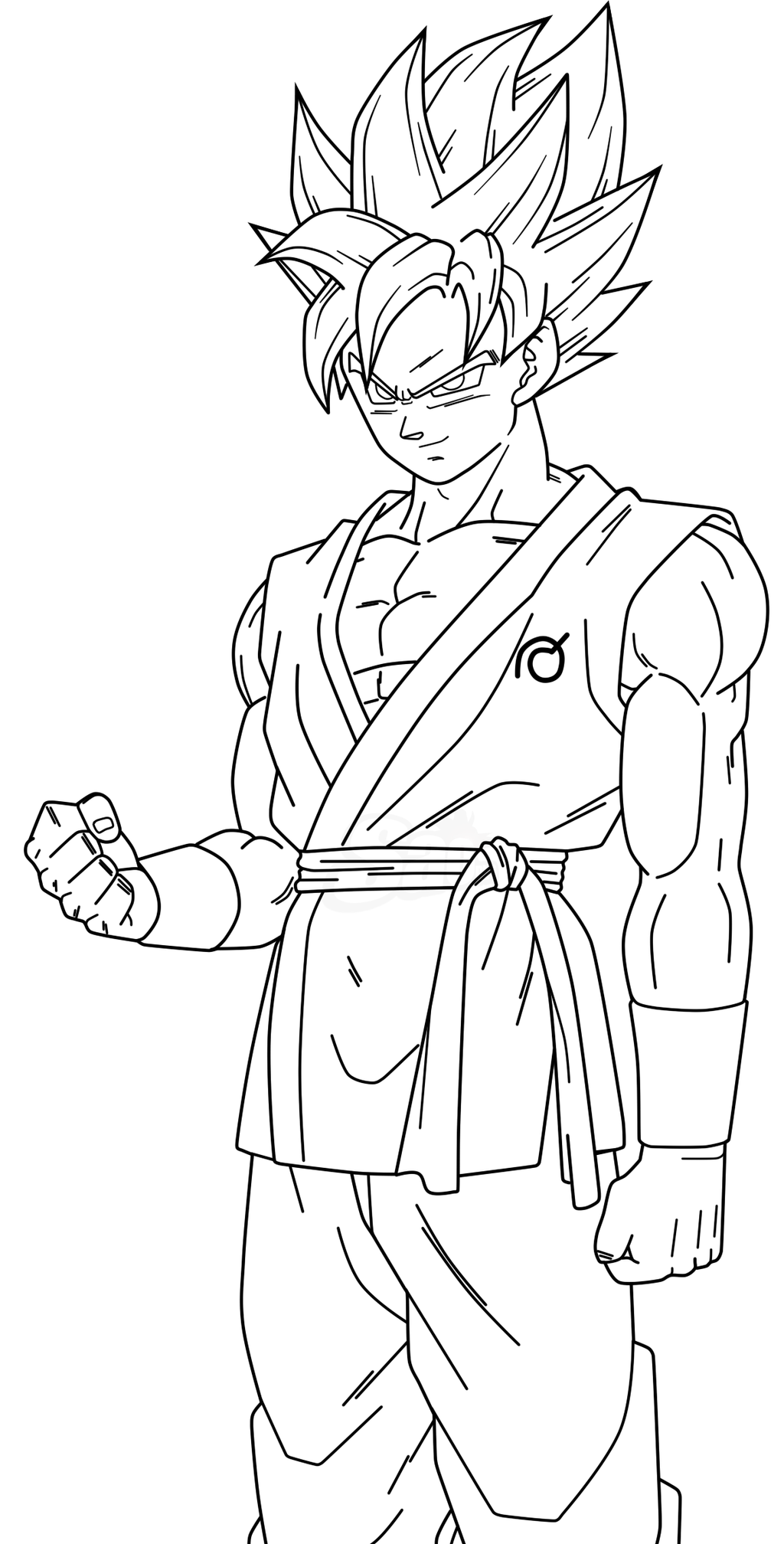Goku ssj blue lineart 2 by saodvd on deviantart for Goku coloring page