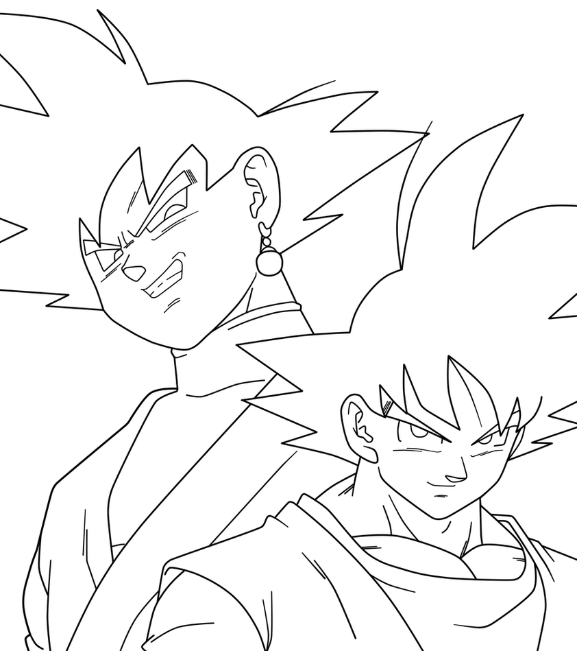 Dbz Gohan Coloring Pages Sketch Coloring Page