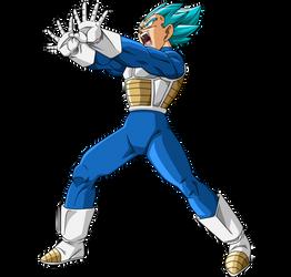 Vegeta SSJ Blue #4 by SaoDVD