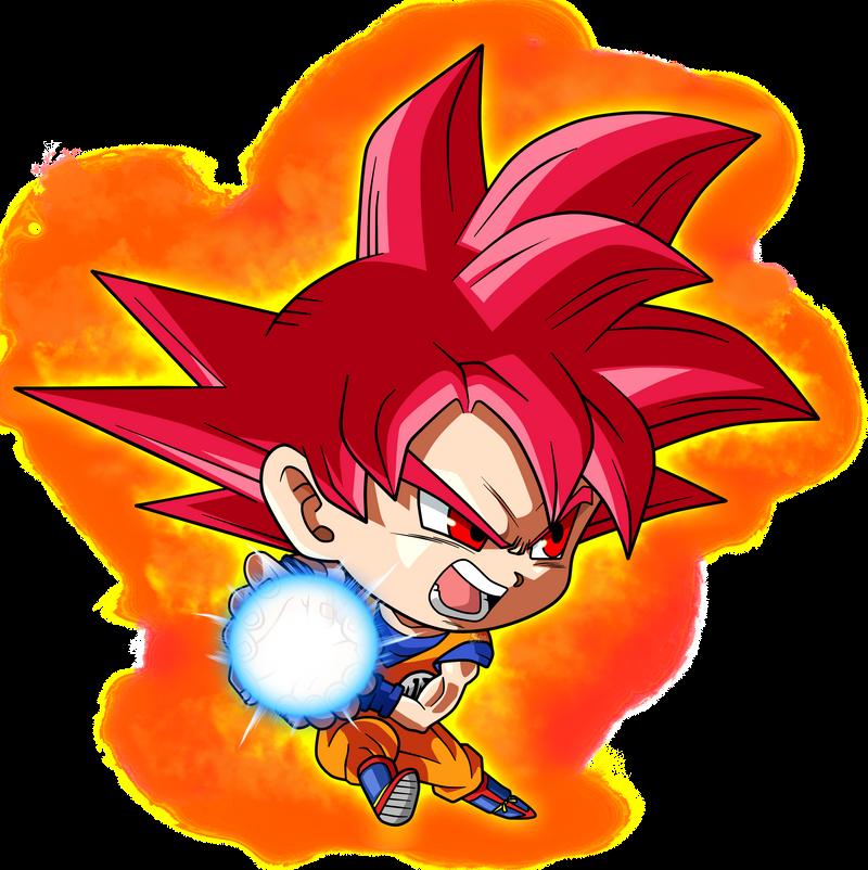 Goku Ssj God Chibi By Saodvd On Deviantart