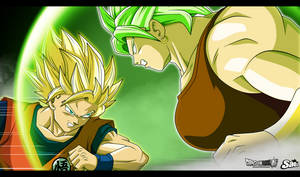 Goku SSJ2 VS Kale SSJ Berserker by SaoDVD