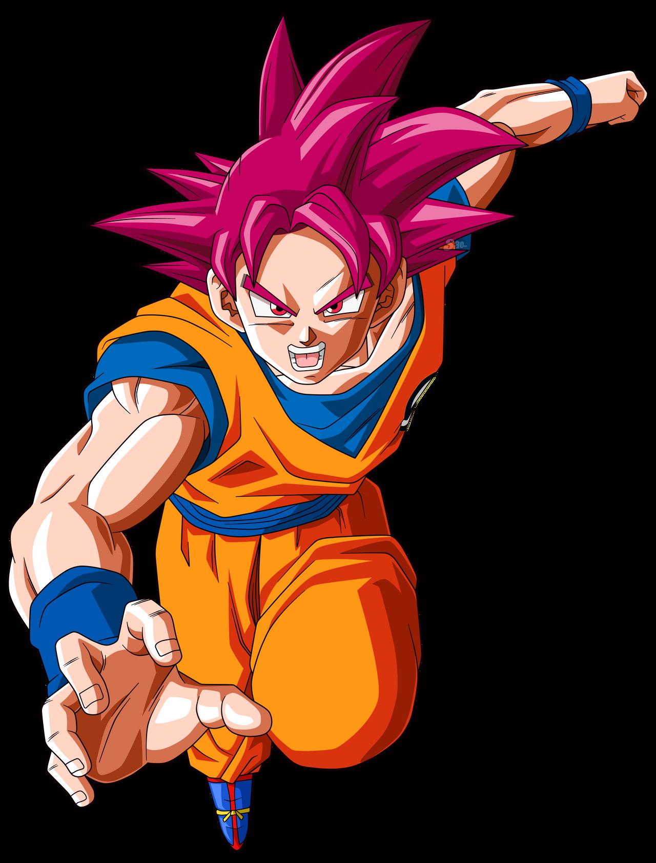 Goku Super Saiyajin Fase Dios by SaoDVD on DeviantArt