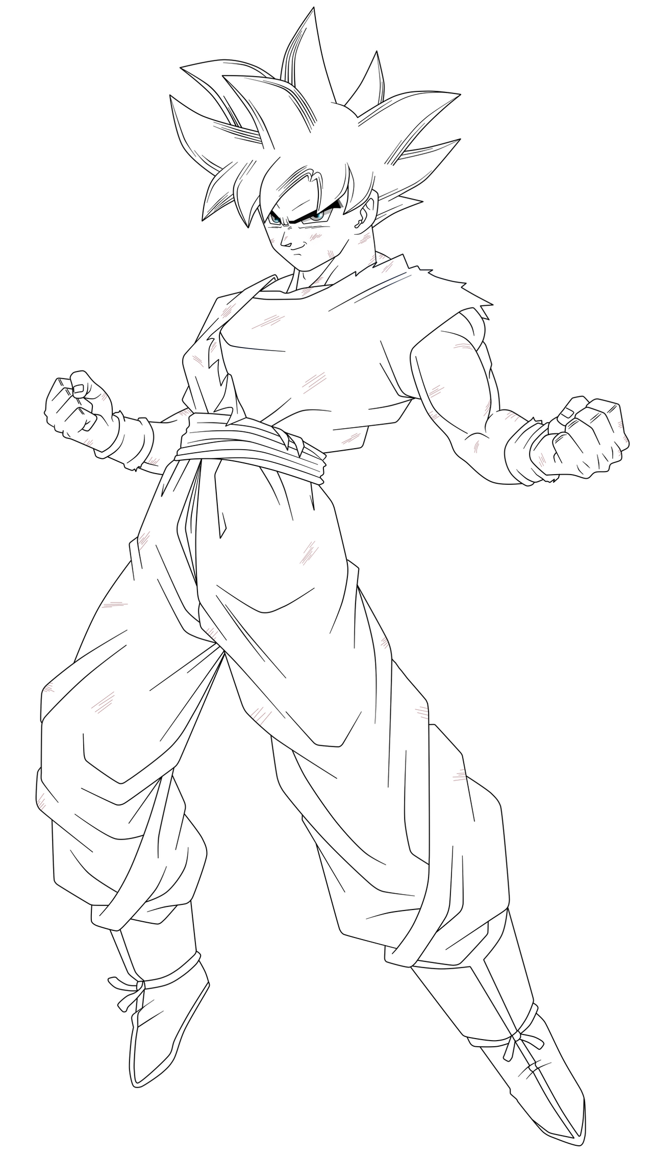 Line Art Render : Goku in the limit lineart by saodvd on deviantart
