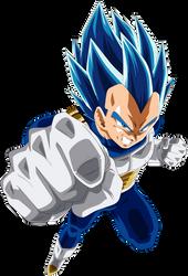 Vegeta SSJ Blue Full Power by SaoDVD
