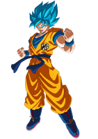 Goku Super Saiyajin Blue 2018 by SaoDVD