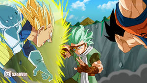 Goku y Vegeta Vs Granola