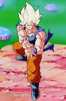 Goku SSJ en Namek