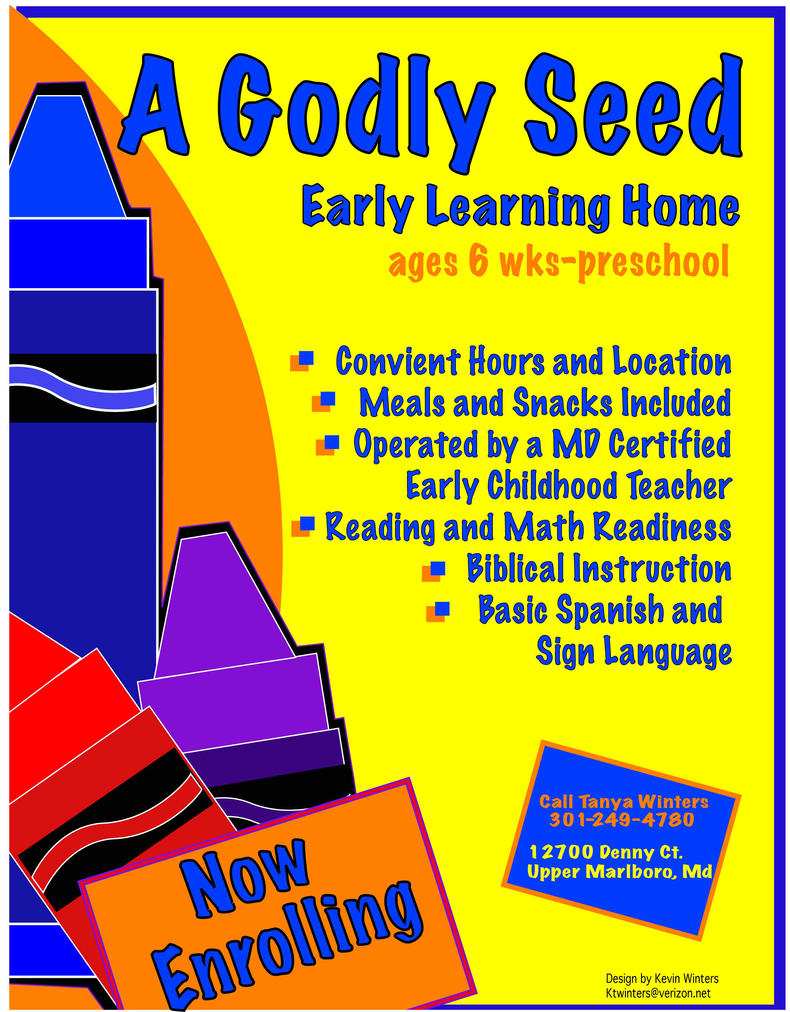 daycare promo flyer by artiestdesign on daycare promo flyer by artiestdesign