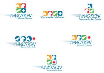 NMotionCommunCenter logo drafts by ArtiestDesign
