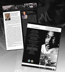 MLK Program Agenda by ArtiestDesign