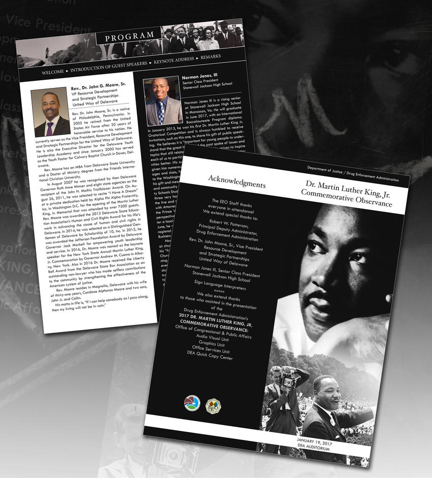 MLK Program Agenda by ArtiestDesign