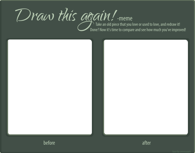 Draw this again! - Template by omenaadopts on DeviantArt