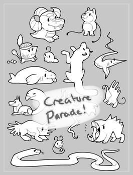 creature parade lines | F2U