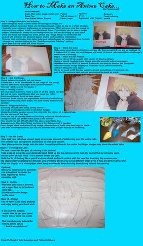 Anime Cake Tutorial by pirateking42