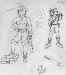 TF2 girl-scout by Ezekel