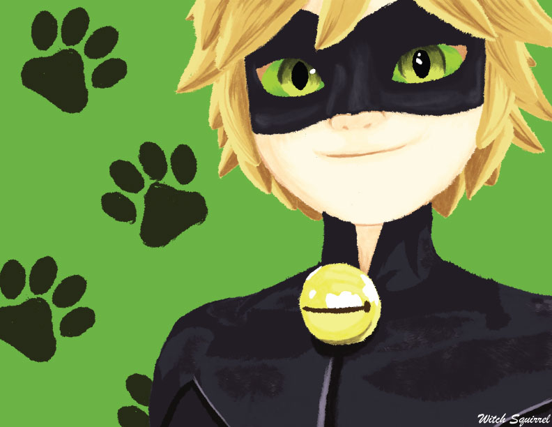 Chat Noir by WitchSquirrel