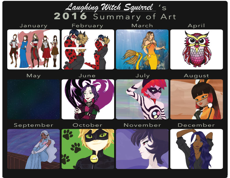 2016 Art Summary by WitchSquirrel