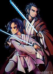 Padawan Ezra and Master Kanan by ibahibut