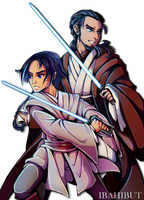 Padawan Ezra and Master Kanan by ibahibut
