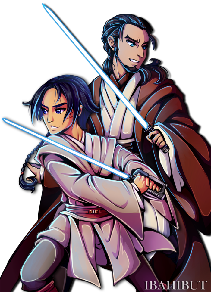 padawan ezra and master kanan by ibahibut on deviantart