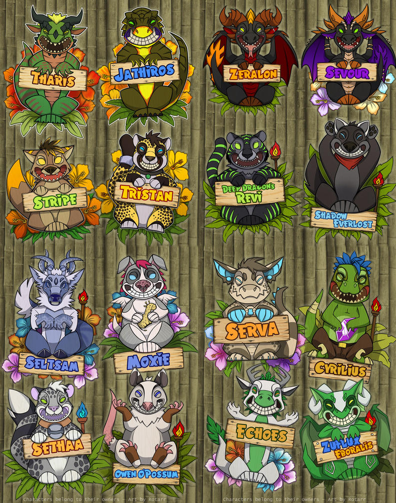Tiki Badges by FlyQueen
