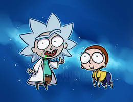 Rick and Morty by FlyQueen