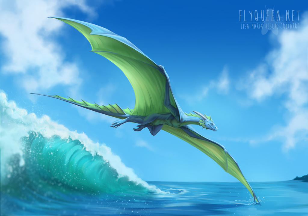 Racing waves. [Commission for Nodge] by FlyQueen