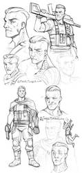 Cable Sketches by FlyQueen