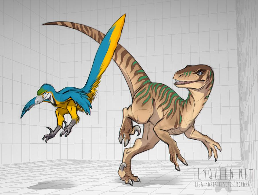 Raptors by FlyQueen
