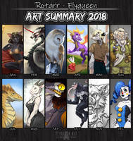 2018 Art Summary by FlyQueen