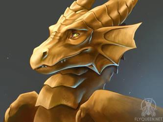 Golden Dragon by FlyQueen