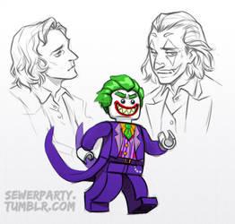 Lego Joker and JP Joker Sketches