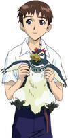 Shinji and Pen Pen