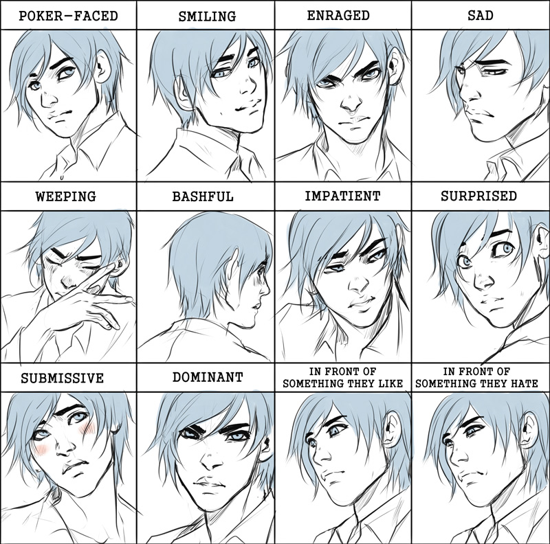 Comm: Orphee expression meme by Noiry on DeviantArt