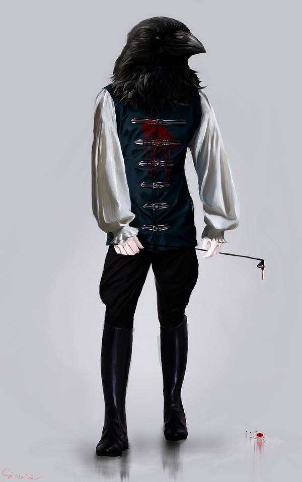 edgar allan crow concept art by ohlazarus