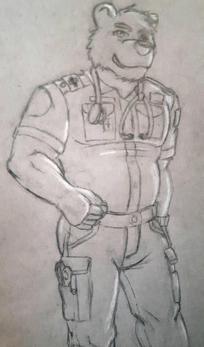 Polar bear paramedic  by silver-paw89
