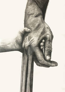 Logan poster -  pencil drawing