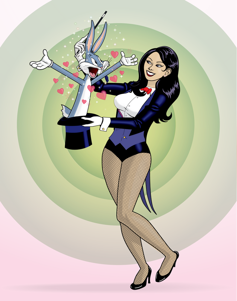 Zatanna And Bugs Bunny By Helob On Deviantart