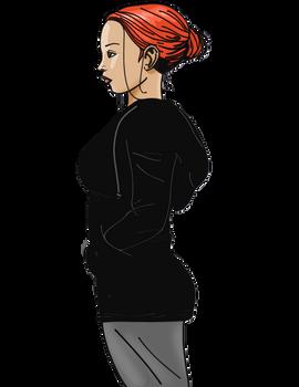 Redhead in a Hoodie