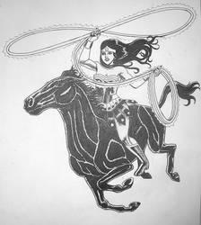 Wonder Woman on Horseback